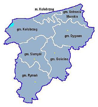 Kołobrzeg County - Image: Kolobrzeg p gm