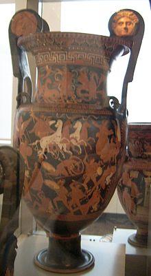 Доевнегречкский античный вазописец и гончар представитель строгого стиля