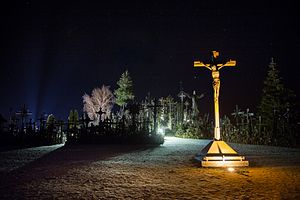 Hill of Crosses - Hill of Crosses at night