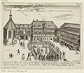 Kupferstich - Nürnberg - Heilsbronner Hof - Fechtschule - 1623.jpg