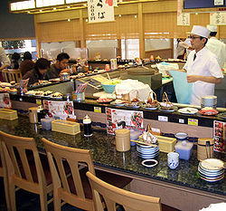 A Conveyor Belt Sushi Restaurant
