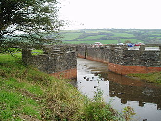 Kidwelly and Llanelly Canal - Kymer's dock at Kidwelly, reconstructed in 1990.