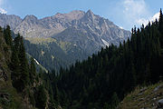 Kyrgyzstan-mountains in summer panorama