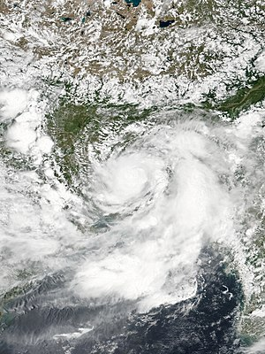 2016 North Indian Ocean cyclone season - Image: LAND 02 2016 08 10 0730Z