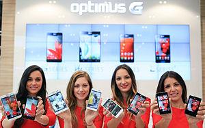 LG Optimus series - LG Optimus smartphones at Mobile World Congress 2013 in Barcelona