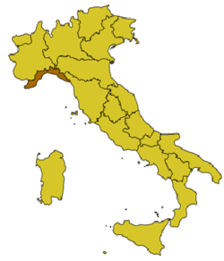 Location of Portovenere