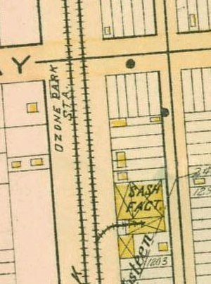 Ozone Park (LIRR station) - 1891 Map of Ozone Park Station