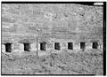 LOOKING SOUTHEAST AT GUN PORTS, WITH SCALE - Fort Adams, Newport Neck, Newport, Newport County, RI HABS RI,3-NEWP,54-49.tif