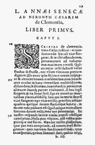 De Clementia - From the 1594 edition, published by Jean Le Preux