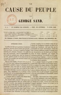 La Cause du peuple par George Sand, avril 1848.png