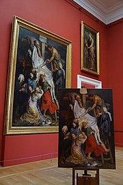 La Descente de Croix de Rubens, original et copie.jpg