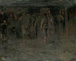 Gloomy Fair II. (Sketch of a Group of Men)