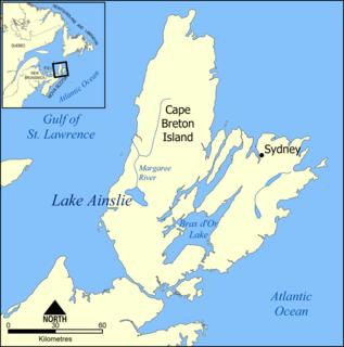 Lake Ainslie lake in Cape Breton Regional Municipality, Nova Scotia, Canada