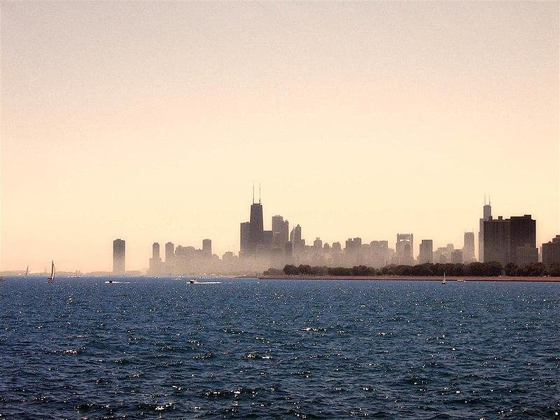 File:Lake Michigan skyline.jpg