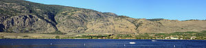 Osoyoos Lake - Looking east from town, Osoyoos Lake, South Okanagan Valley, British Columbia
