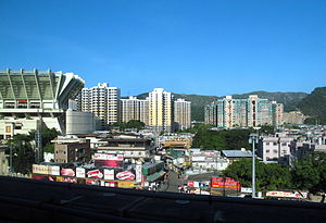 Tuen Mun District - Miu Fat Buddhist Monastery (left) in Lam Tei