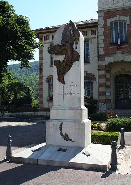 Lamalou-les-Bains - Hérault - monument aux morts (inauguré le 12 June 1921) - bronze de Jean-Antoine Injalbert.