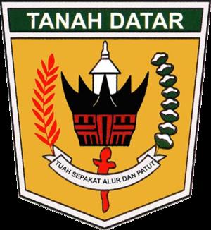 Tanah Datar Regency - Image: Lambang Kabupaten Tanah Datar
