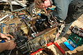 Land Rover 2.25 upside down, sump removed.JPG