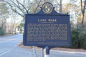 Lane Park - Lane Park Historical Plaque