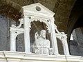 Laon (02), église Saint-Martin, bas-côté sud, chapelle devant la 7e travée, clôture, attique - le Christ bénissant 2.jpg