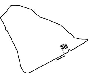 Tunis Grand Prix - Image: Layout of Carthage street circuit used in Tunis Grand Prix (1931 1937)