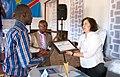 Le Collectif pour le développement culturel de la Jeunesse de Kalemie a remis à la MONUSCO le prix d'excellence « Kalemie Awards » (15144044997).jpg
