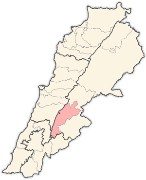 Western Beqaa District - Image: Lebanon districts West Bekaa