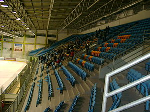 HDK Maribor - Main stand of the Tabor Ice Hall