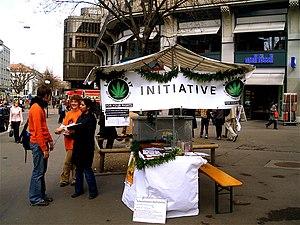 Cannabis in Switzerland - Legalization booth in Zurich