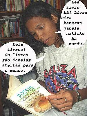 Culture of East Timor - Campaigning for reading in Timor-Leste.