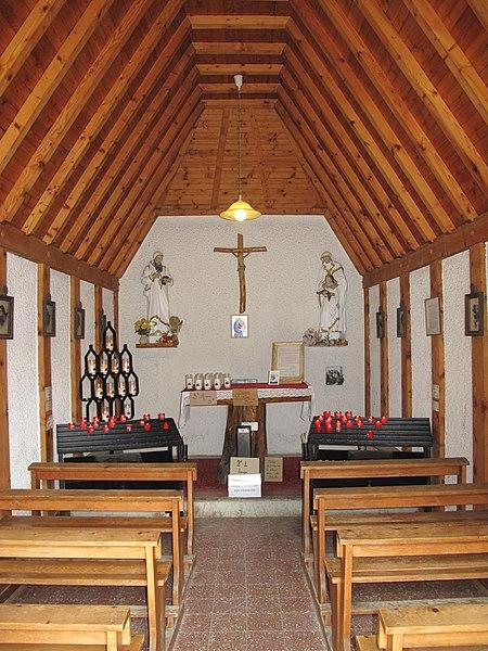 Interior of the chapel of les Aravis (border Savoie and Haute-Savoie, France).