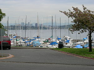Leschi, Seattle - Marina on Lake Washington seen from Leschi Park, 2007