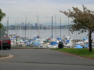 Leschi, Seattle - Marina on Lake Washington seen from Leschi Park, 2007