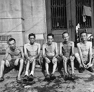 Civilian internee - Liberated Allied civilian internees at the Santo Tomas Internment Camp, 1945