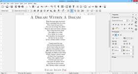Écran du menu de LibreOffice Writer 4.4