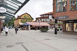 Torvet i Lidingö centrum.