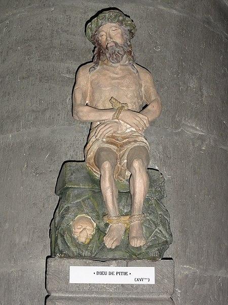 Liessies (Nord, Fr) église, statue Christ aux liens