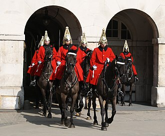 Life Guards (United Kingdom) - Image: Life guards Whitehall (London)
