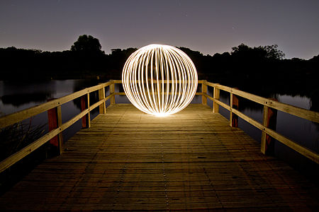 Light Painting in Booyeembara Park, Australia