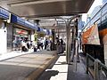 Limousine Bus Shinjuku Station West Bus Stop No 23 and Ticket counter 2016.jpg