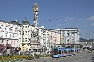 Linz Place in Upper Austria, Austria