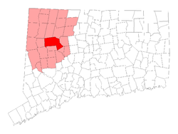 Location in Litchfield County, Connecticut