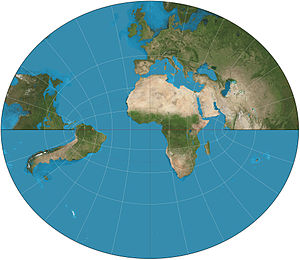 Littrow projection - Littrow projection of partial hemisphere