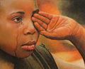 Llagrimes (tears), pastel portrait by Robert Perez Palou.jpg