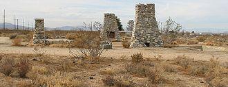 Llano del Rio - Llano del Rio ruins in late 2009