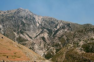 Mountains from the National Park of Llogara in sourthern Albania