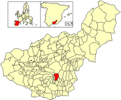 Location of Capileira