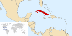 Location of Cuba