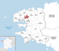 Locator map of Kanton Landerneau 2019.png